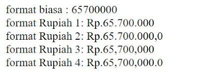 cara membuat format uang rupiah dengan menggunakan format_number di php
