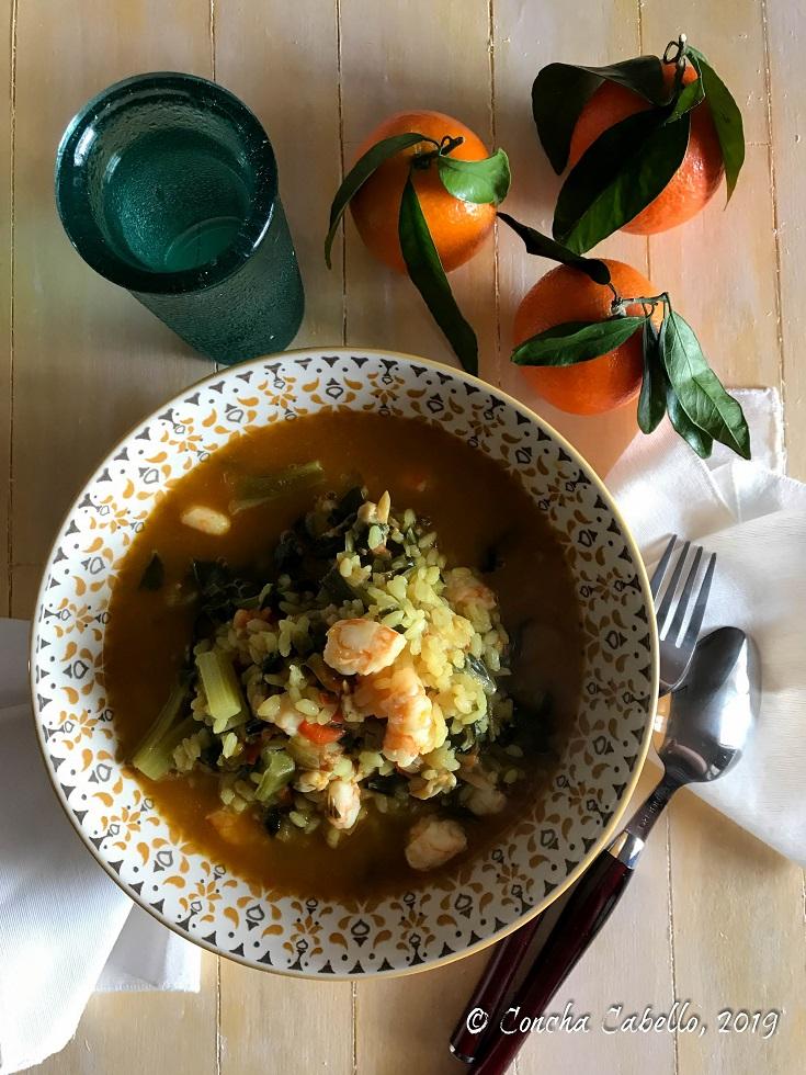 arroz-acelgas-langostinos-mandainas-vintage