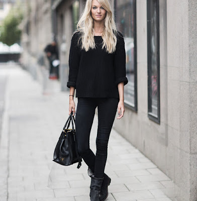 how to wear the black