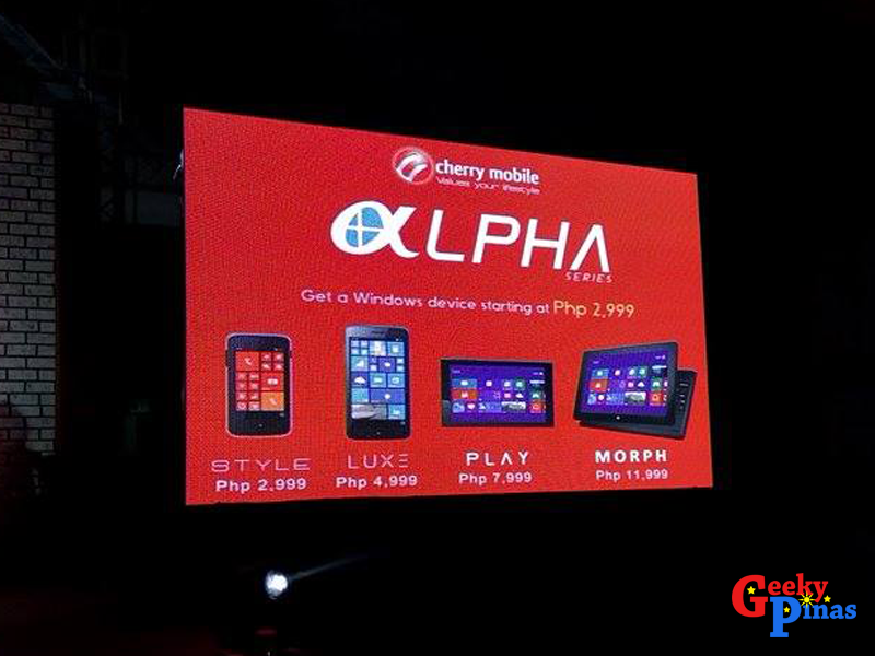 Cherry Mobile introduces the Alpha Series Windows Phone Devices!