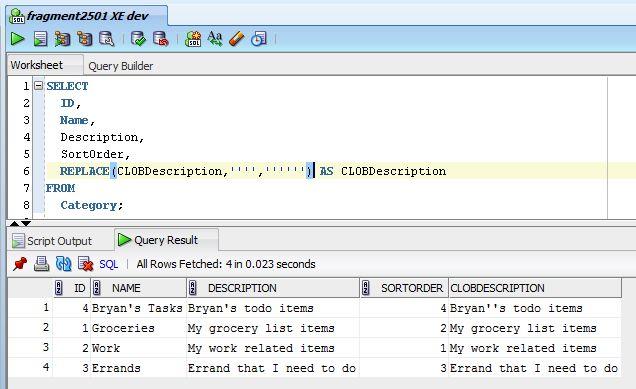 BryansGeekSpeak: Exporting Oracle Table Data Using SQL