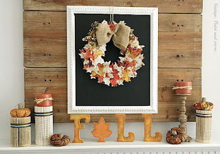 Vintage, Paint and more... Fall Mantel with a Wood Fall Sign