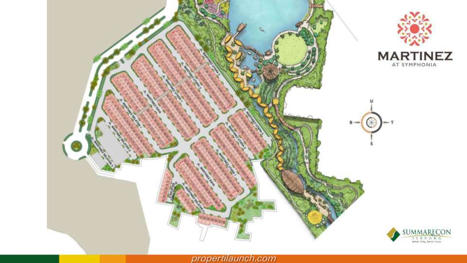 Site Plan Cluster Martinez Summarecon Serponga