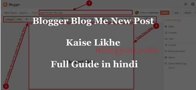 post kaise likhe first image