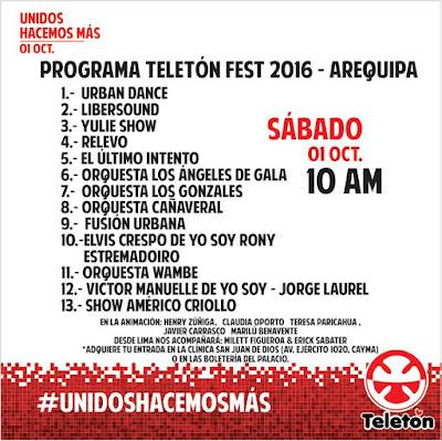 Teletón Arequipa 2016