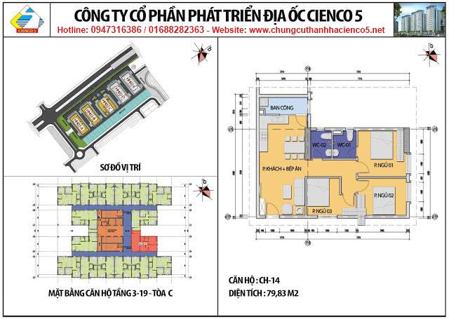 Sơ đồ thiết kế căn 14 chung cư B2.1 HH02C Thanh Hà Cienco 5