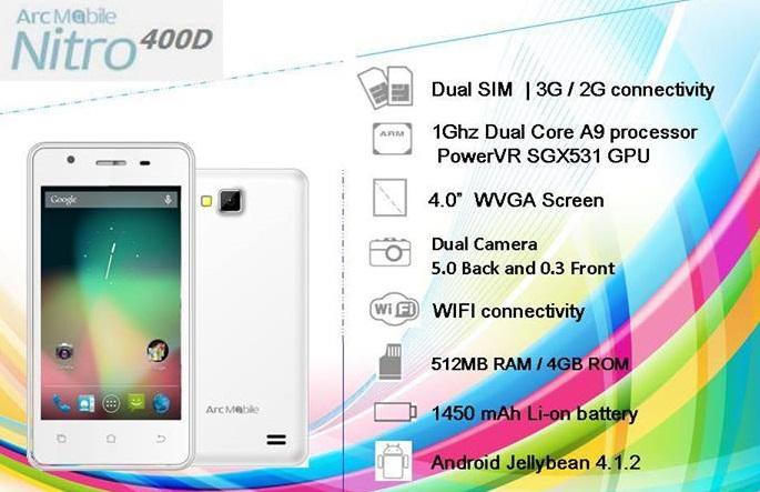 Arc Mobile Nitro 400D Specs