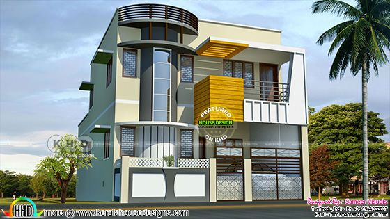 2080 square feet 3 bedroom modern house