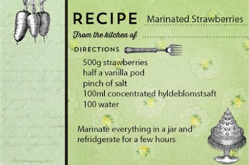 Ricotta Pancakes with Hyldeblomst and Vanilla Marinated Strawberrie