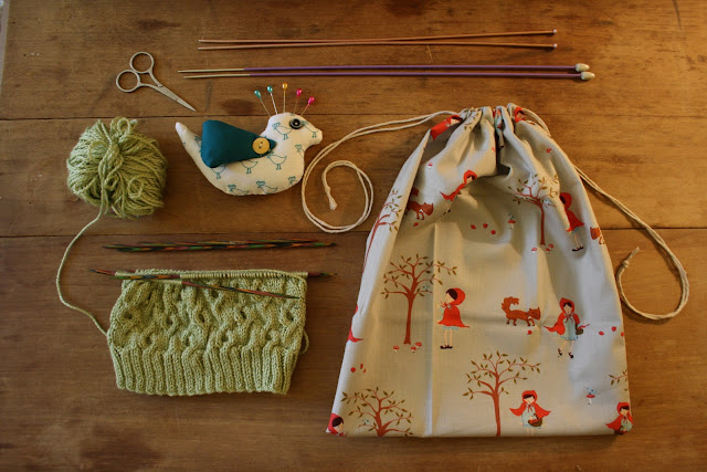 OwlPrintPanda: DIY: Sew Easy Project / Knitting Bag