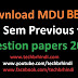 एम डी यू BBA 3rd Sem Previous Year Question Papers
