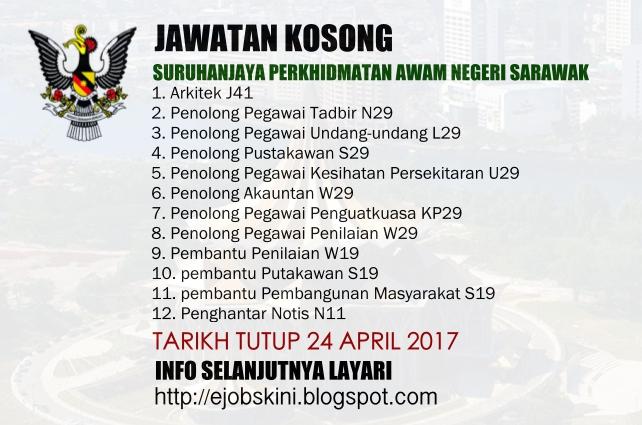 Jawatan Kosong Suruhanjaya Perkhidmatan Awam Negeri Sarawak