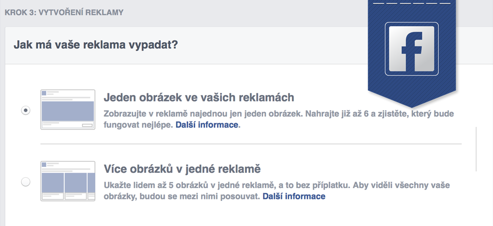 Multiproduktová reklama na Facebooku