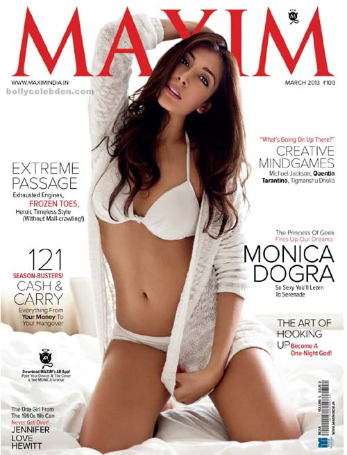 Monica Dogra On The Cover Photo Of Maxim Magazine – March 2013