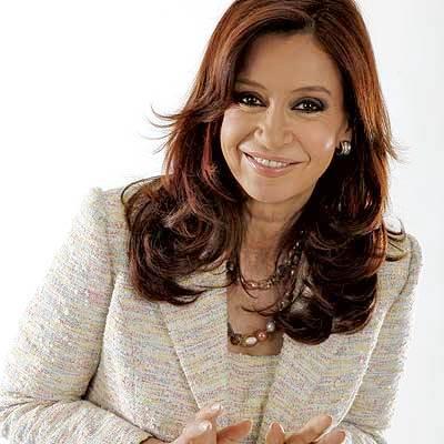 Foto de Cristina Fernández de Kirchner sonriendo