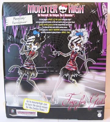 Вид коробки сзади. Набор кукол Монстер Хай серия зомби шейк (Monster High Zombie Shake)