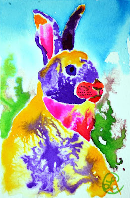 http://www.ebay.com/itm/Morning-After-Bunny-Representative-Ink-Painting-Contemporary-Artist-France-/291843456162?ssPageName=STRK:MESE:IT