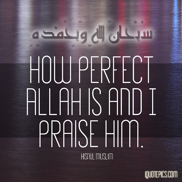 How perfect Allah is and Praise him