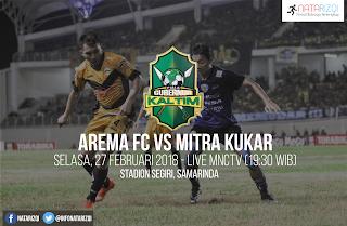 Live Streaming Arema FC vs Mitra Kukar FC