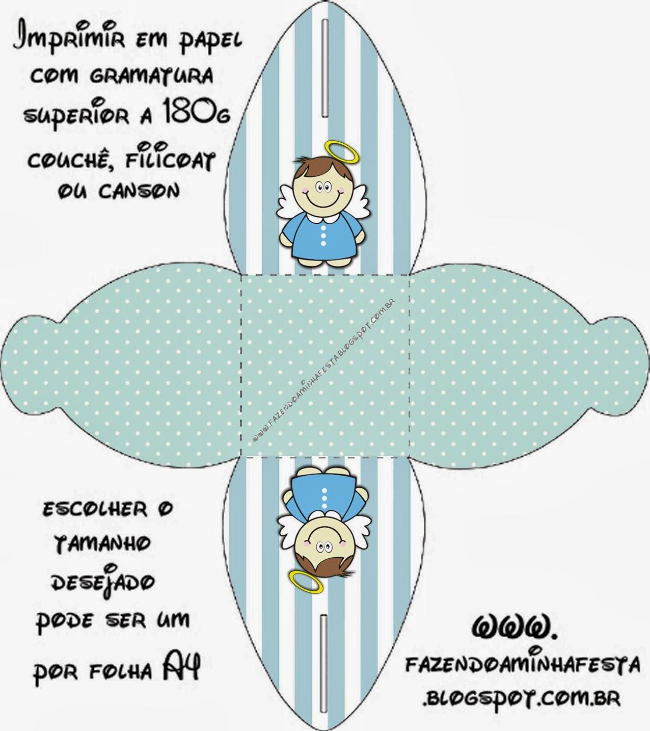 Bautismo Angelito Moreno: Cajas para Imprimir Gratis. | Ideas y ...