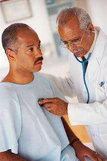 Ebony curly doctor exam