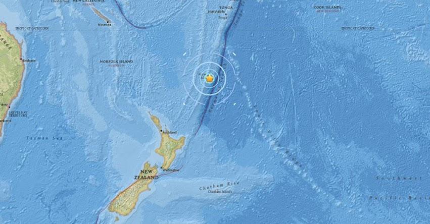 TERREMOTO EN NUEVA ZELANDA de magnitud 5,8 - Alerta de Tsunami (Hoy Miércoles 17 Enero 2018) Sismo Temblor EPICENTRO - Kermadec - Raoul - USGS