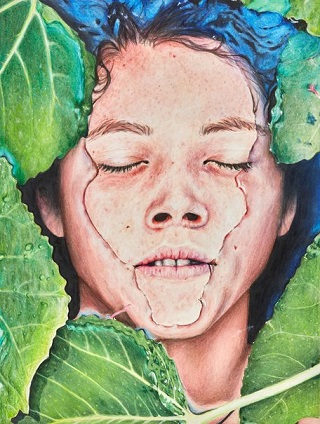 "Finalist Young Archie 2018 - ""Immersed"" by Violet Watts | creative emotional paintings, cool stuff, pictures, deep feelings, sad | obras de arte contemporaneo realista, cuadros, imagenes de pinturas tristes bonitas chidas bellas | peintures | pitturas"