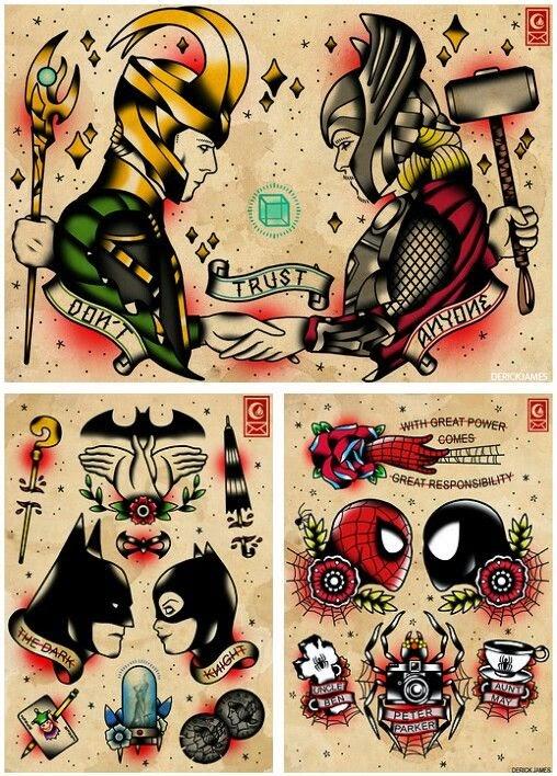 http://society6.com/DerickJames/Spider-Man-Tattoo-Flash-Set_Print#1=45