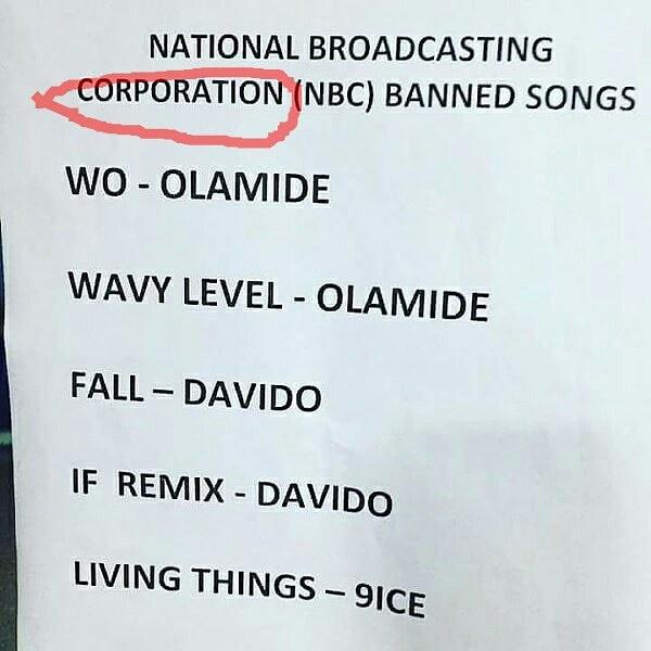 """""""We Didn't Ban Olamide's """"Wo"""" Song""""- NBC Denies Rumors"""