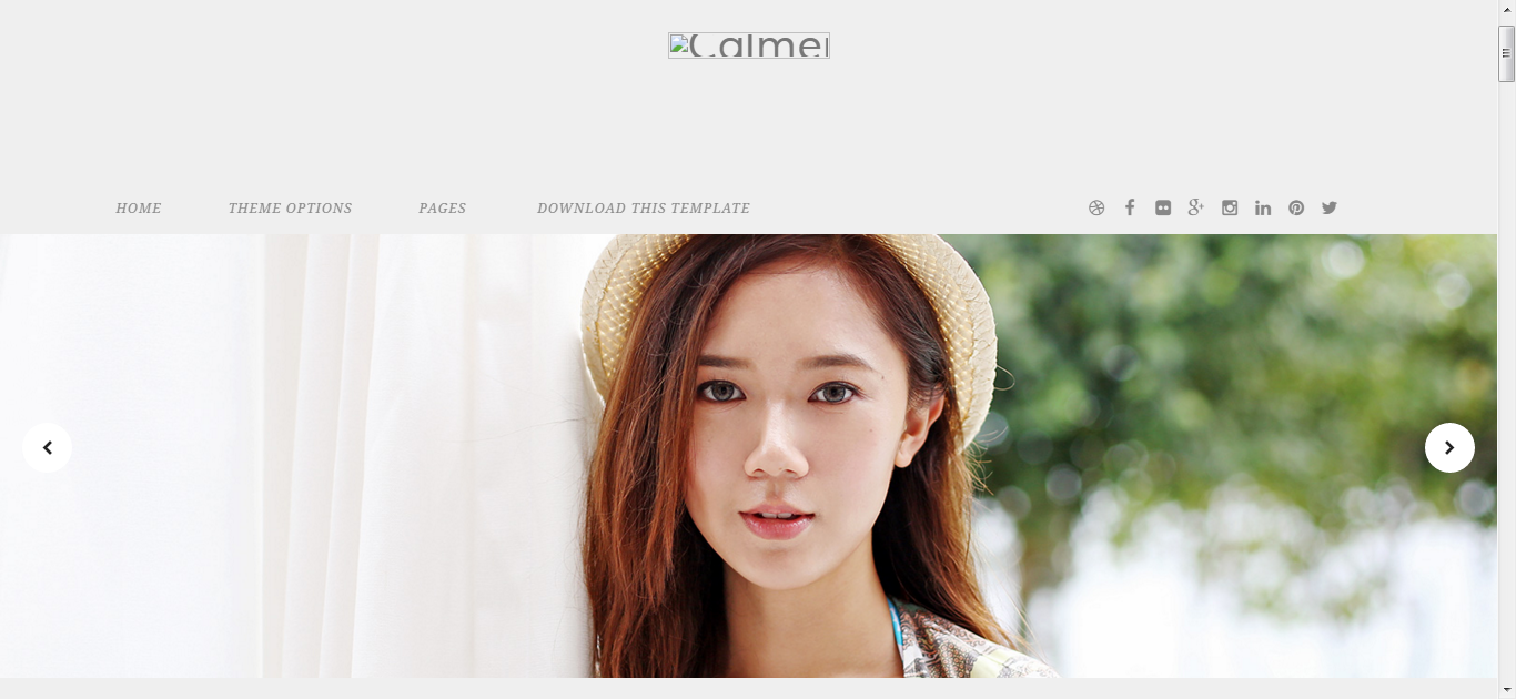 Calmer Fashion Blogger Template Free Download - Get any