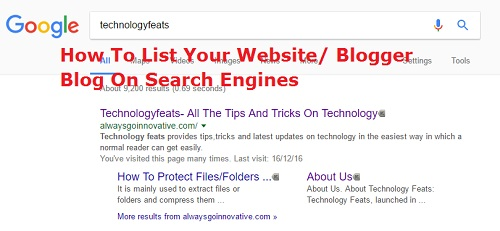 how to list your blog on search engines