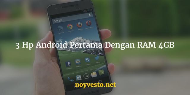 Hp Android RAM 4GB Terbaru