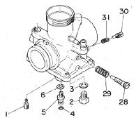 Circuits Apmilifier: Yamaha DT250 350 Mikuni Carburetor