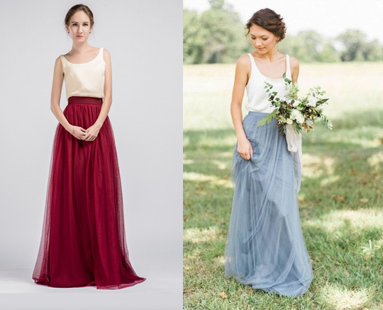 Two piece bridesmaid dresses