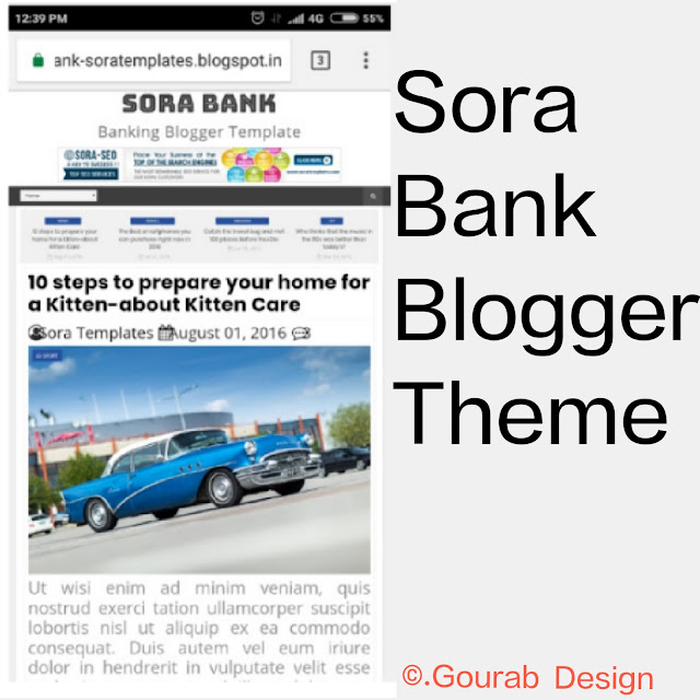 Sora bank blogger template image