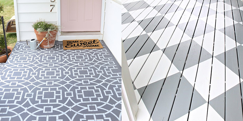 DIY to try # painted front porch floor