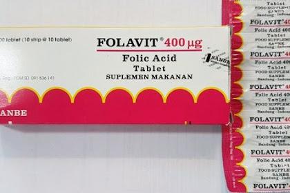 Folavit - Manfaat, Dosis dan Efek Samping