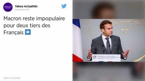 Sondage. Macron reste impopulaire pour deux tiers des Français