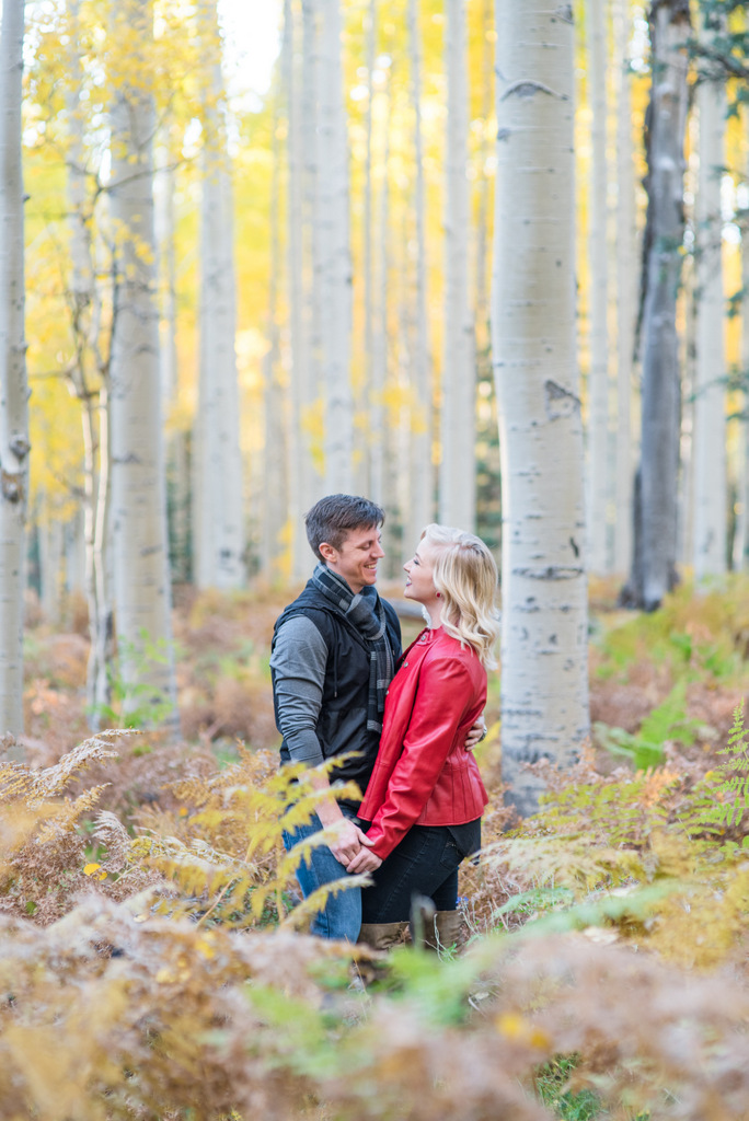 Arizona Fall Engagement Photo in Aspens