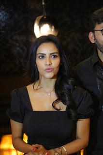 Tamil Actress Priya Anand Stills At LKG Movie Premiere Show
