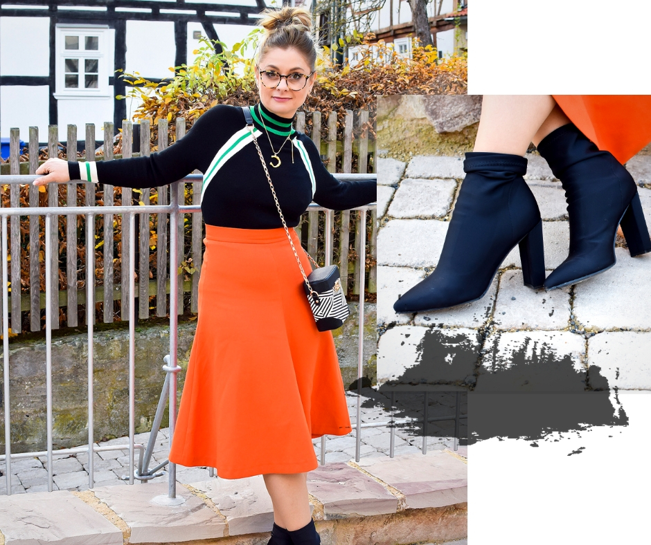 3 Tipps Wie Du Orange Richtig Kombinierst Outfit Mit Rock In