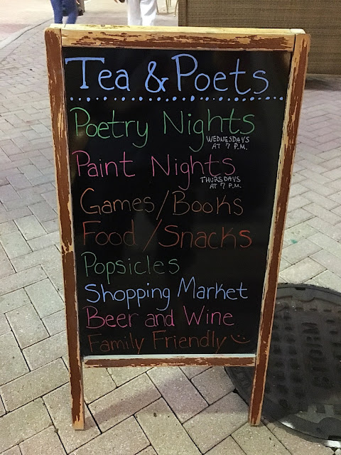 paint night, poetry night, Tea and Poets