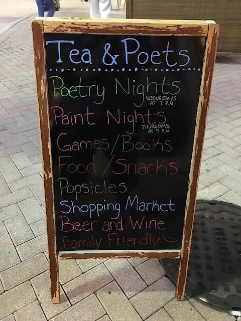 paint night, poetry night, Tea and Poets