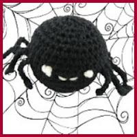 Araña redonda amigurumi