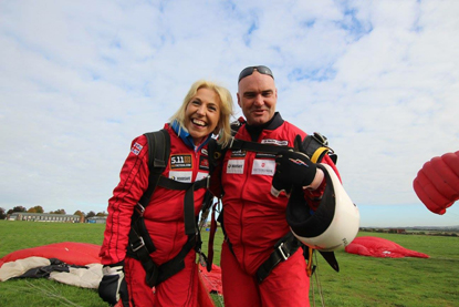 A sponsored tandem skydive for Cats Protection