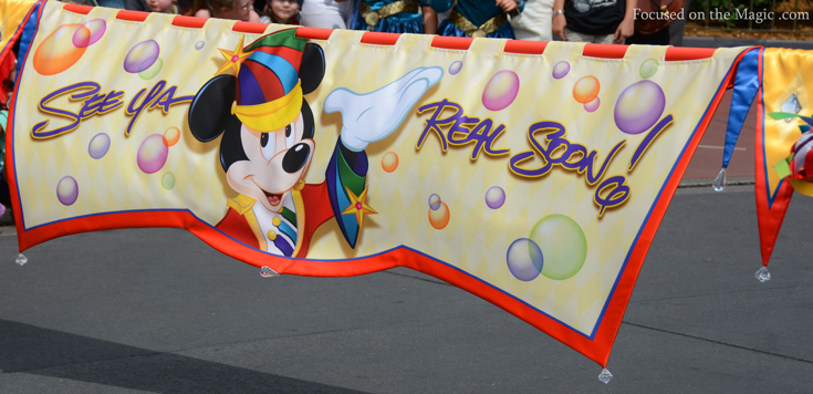 Fantasy parade sign