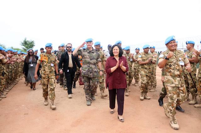 UN SRSG MONUSCO Apresiasi Satgas TNI Konga XXXIX-A RDB