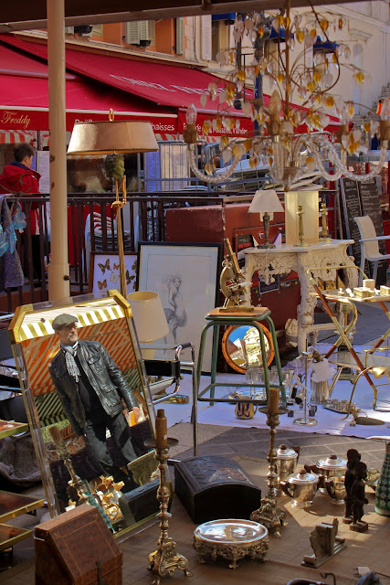The market is open on Mondays 'Cours Saleya' in nice