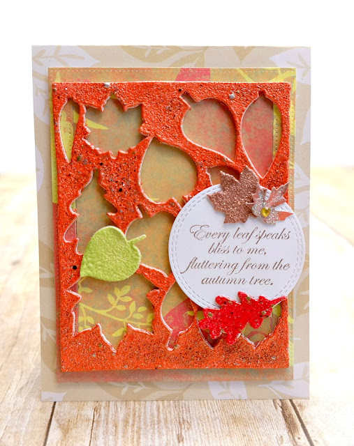 Embossed 3D Foam Leaves Fall Card by Dana Tatar for Scrapbook Adhesives by 3L