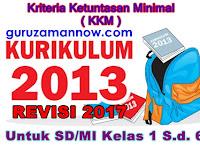 FORMAT KKM SD/MI KELAS 1 SAMPAI 6 KURIKULUM 2013 REVISI 2017 TERBARU LENGKAP